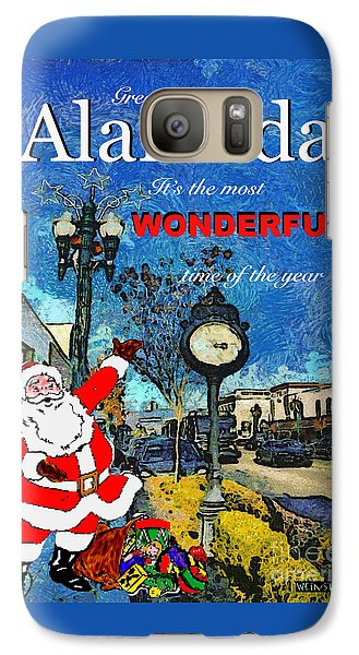 Galaxy Case featuring the photograph Alameda Christmas Greeting by Linda Weinstock