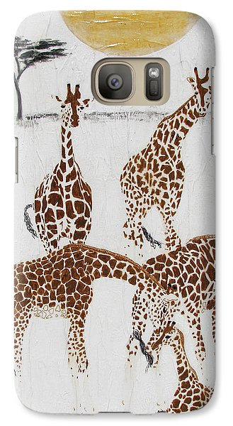Galaxy Case featuring the painting Greeting The New Arrival by Stephanie Grant