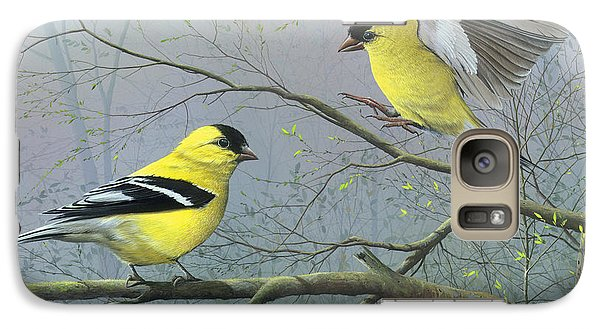 Galaxy Case featuring the painting Greetings My Friend by Mike Brown