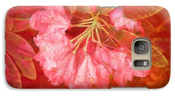 Galaxy Case featuring the digital art Gregg's Flowers With Textures by Kathleen Stephens