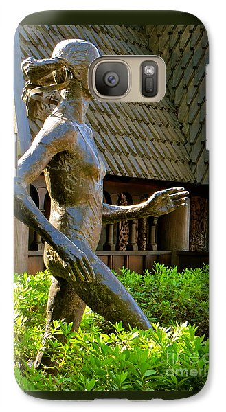 Galaxy Case featuring the photograph Grete Waitz Sculpture by Joy Hardee