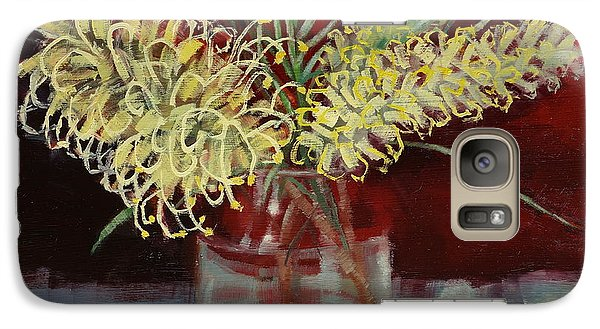 Galaxy Case featuring the painting Grevillea Still Life by Margaret Stockdale