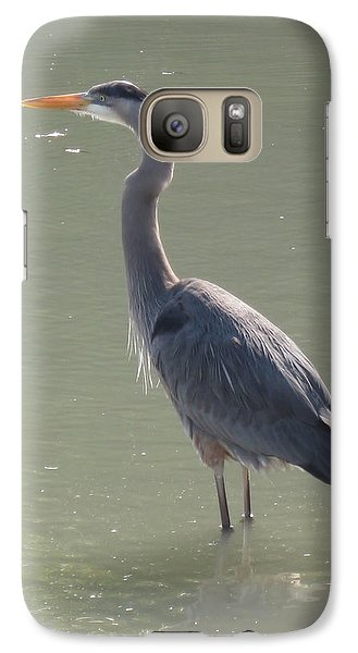 Galaxy Case featuring the photograph Grey Bird by Oksana Semenchenko