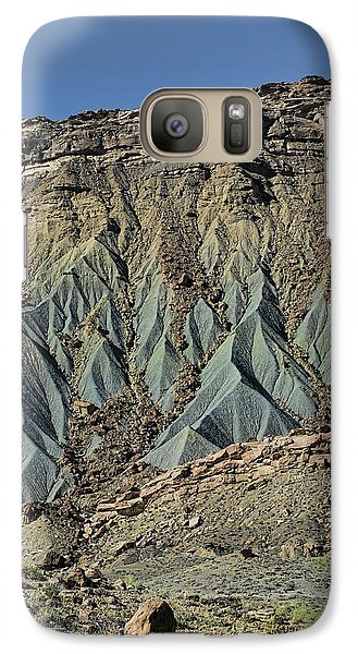 Galaxy Case featuring the photograph Grey Cliffs In Waterpocket Fold  by Gregory Scott