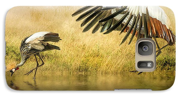 Galaxy Case featuring the photograph Grey Crowned Cranes by Brian Tarr