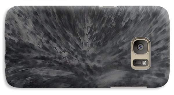 Galaxy Case featuring the painting Grey Emotions In Motion by Stuart Engel