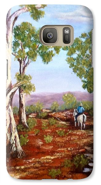 Galaxy Case featuring the painting Grey Gums  by Renate Voigt