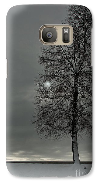 Galaxy Case featuring the photograph Grey Morning by Steven Reed