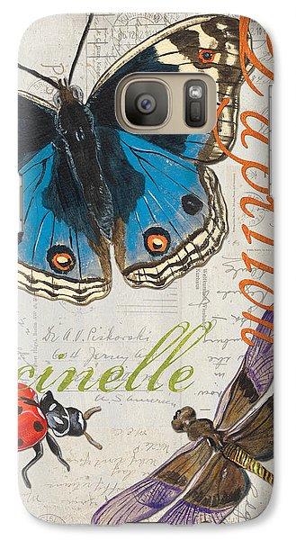 Grey Postcard Butterflies 4 Galaxy S7 Case by Debbie DeWitt