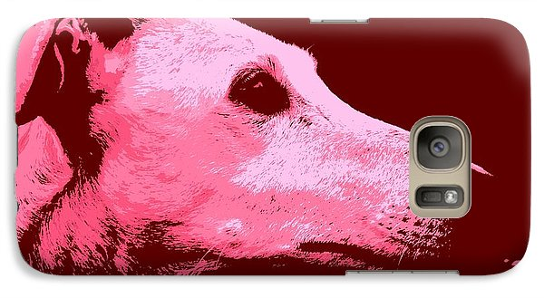 Galaxy Case featuring the photograph Greyhound Profile by Clare Bevan