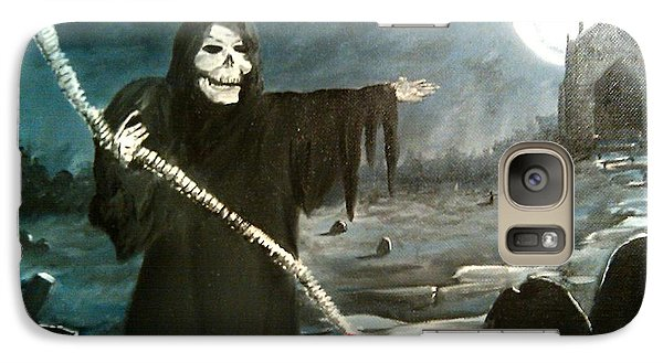 Galaxy Case featuring the painting Grim Creeper by Kevin F Heuman
