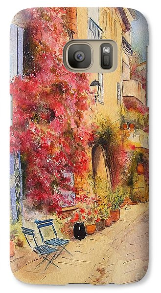 Galaxy Case featuring the painting Grimauld Village by Beatrice Cloake