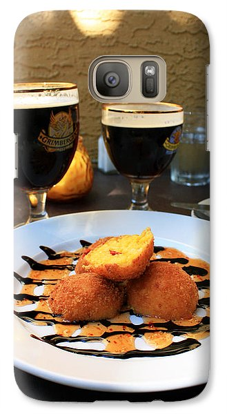 Galaxy Case featuring the photograph Grimbergen And Arancini by Gerry Bates
