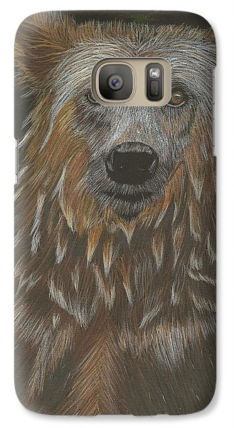 Galaxy Case featuring the drawing Grizzly Bath by Sheila Byers