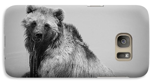 Grizzly Bear Bath Time Galaxy S7 Case by Karen Shackles