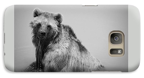 Galaxy Case featuring the photograph Grizzly Bear Bath Time by Karen Shackles