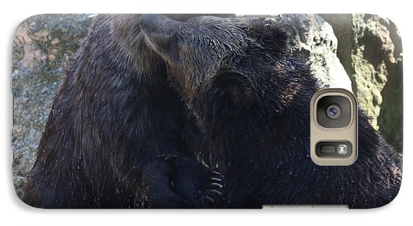 Galaxy Case featuring the photograph Grizzly Bears Fighting by John Telfer