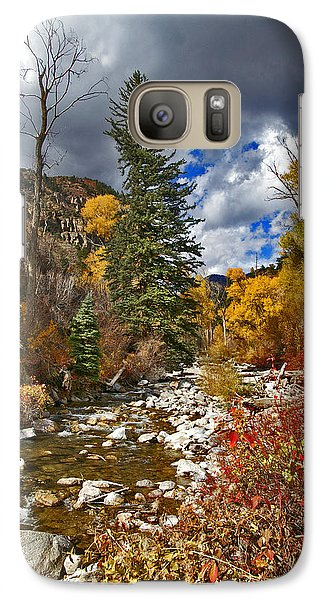 Galaxy Case featuring the photograph Grizzly Creek Vertical by Jeremy Rhoades