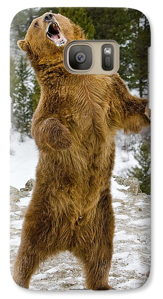 Galaxy Case featuring the photograph Grizzly Standing by Jerry Fornarotto
