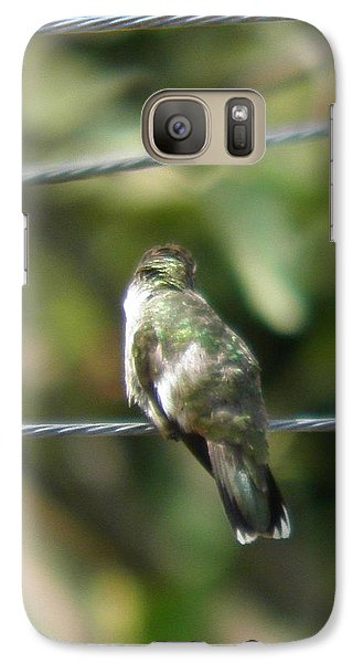 Galaxy Case featuring the photograph Grooming Hummer by Nick Kirby