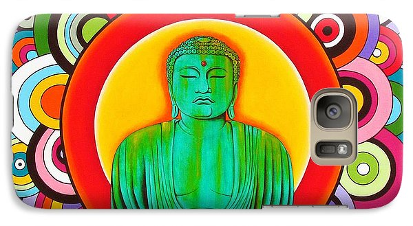 Galaxy Case featuring the painting Groovy Buddha by Joseph Sonday