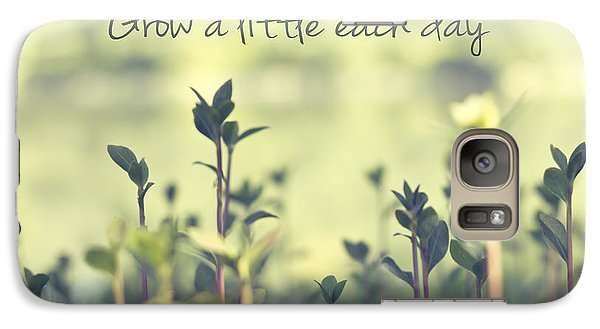 Grow A Little Each Day Inspirational Green Shoots And Leaves Galaxy Case by Beverly Claire Kaiya