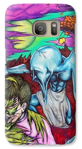 Galaxy Case featuring the drawing Growing Evils by Michael  TMAD Finney
