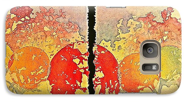 Galaxy Case featuring the painting Growing Expanse by Carolyn Rosenberger