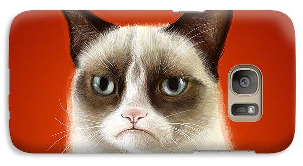 Grumpy Cat Galaxy S7 Case by Olga Shvartsur
