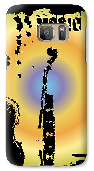 Drum Galaxy S7 Case - Grunge Background Vector by Ozkan