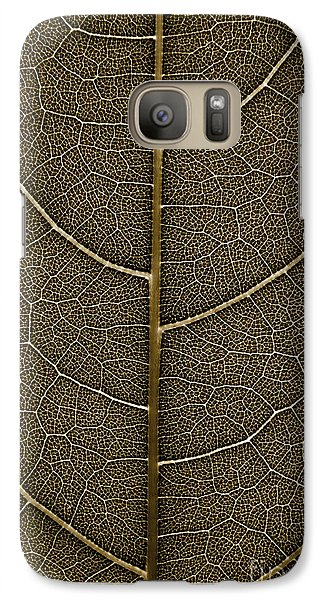Galaxy Case featuring the photograph Grunge Leaf Detail by Carsten Reisinger