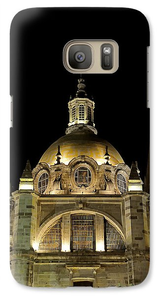 Galaxy Case featuring the photograph Guadalajara Cathedral At Night by David Perry Lawrence