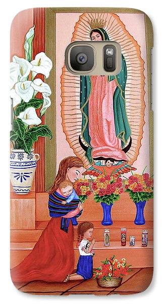 Galaxy Case featuring the painting Guadalupe by Evangelina Portillo