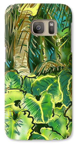 Galaxy Case featuring the painting Guanabana Tropical by Jean Pacheco Ravinski