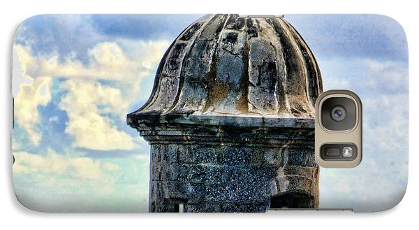 Galaxy Case featuring the photograph Guard Tower At El Morro by Daniel Sheldon