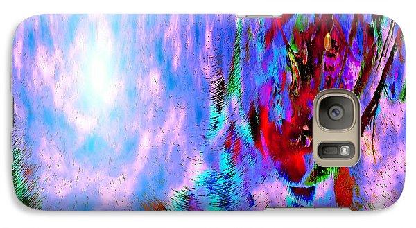 Galaxy Case featuring the digital art Guardian Angel  by Annie Zeno