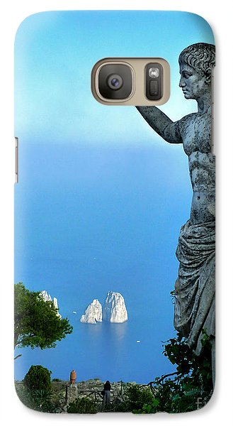 Galaxy Case featuring the photograph Guarding The Water by Mike Ste Marie