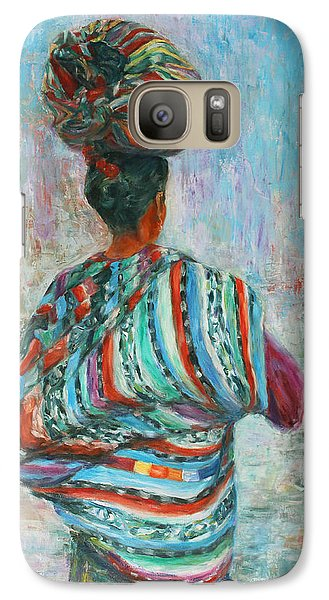 Galaxy Case featuring the painting Guatemala Impression I by Xueling Zou