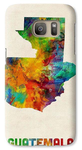 Guatemala Watercolor Map Galaxy Case by Michael Tompsett