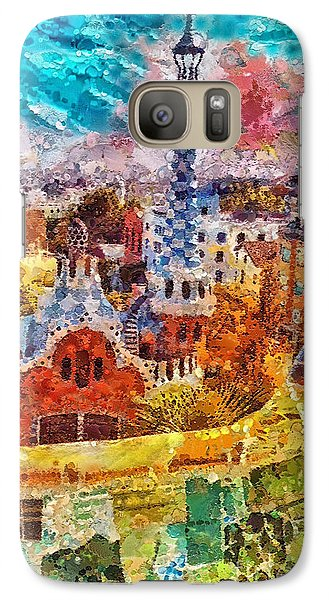 Mo Galaxy S7 Case - Guell Park by Mo T