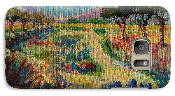 Galaxy Case featuring the painting Guinea Fowl In Extensive Landscape by Thomas Bertram POOLE