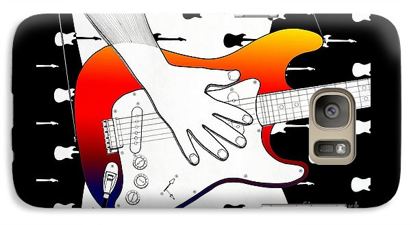 Galaxy Case featuring the drawing Guitar 1 by Joseph J Stevens