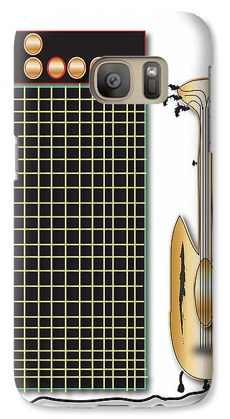 Guitar And Amp Galaxy S7 Case by Marvin Blaine