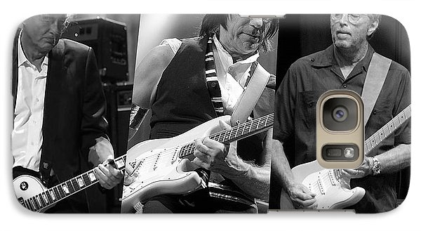 Guitar Legends Jimmy Page Jeff Beck And Eric Clapton Galaxy Case by Marvin Blaine