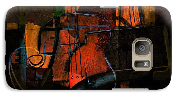 Galaxy Case featuring the painting Guitar On Table #3 by Kim Gauge