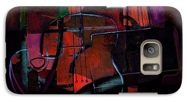 Galaxy Case featuring the painting Guitar On Table by Kim Gauge