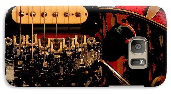Galaxy Case featuring the photograph Guitar Pickup by John Stuart Webbstock