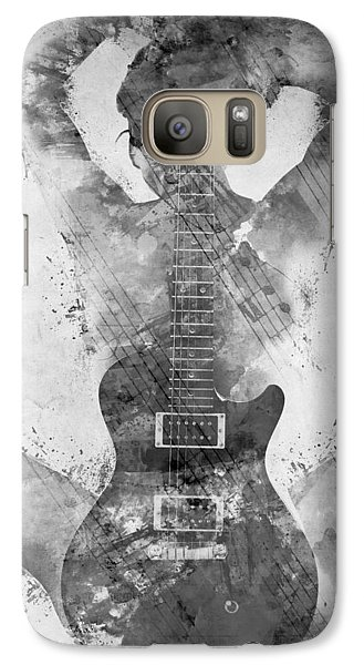 Rock And Roll Galaxy S7 Case - Guitar Siren In Black And White by Nikki Smith