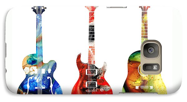 Bass Galaxy S7 Case - Guitar Threesome - Colorful Guitars By Sharon Cummings by Sharon Cummings