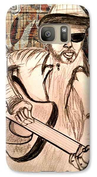 Galaxy Case featuring the drawing Guitarist by Barbara Giordano